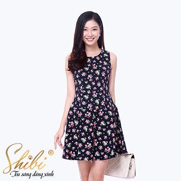 Đầm Họa Tiết Shibi SB131