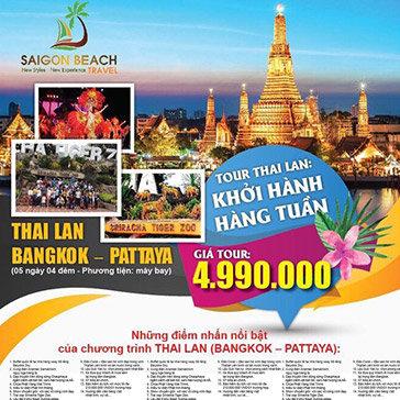 Tour Thái Lan Siêu Hot 5N4Đ – Buffet 86 Tầng – Tiger Zoo – Lâu Đài Tỉ Phú – Đảo Coral Pattaya – Lẩu Suki Yaki Tự Chọn