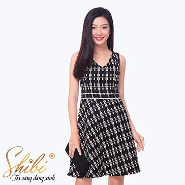 Đầm Họa Tiết Shibi SB119