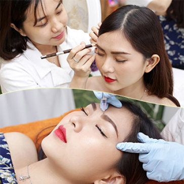 Điêu Khắc Chân Mày 8D/ Môi Collagen/Phun Mày Tán Bột/ Mí Mở Tròng Tại TMV Thanh Hoài (BH 2 Năm)