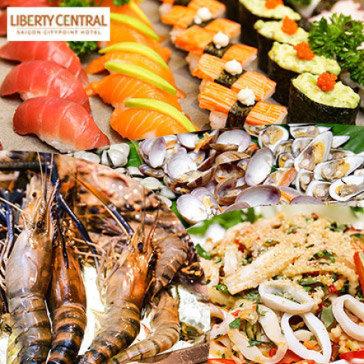 Buffet Trưa Đẳng Cấp, Miễn Phí Nước Ngọt Tại Liberty Central - SG CityPoint 4*
