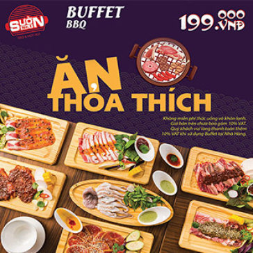 Buffet Tối Hải Sản & Thịt Bò Mỹ, Đà Điểu, Nai Nướng Cao Cấp Đẳng Cấp 5* Tại Hệ Thống NH Sườn No.1