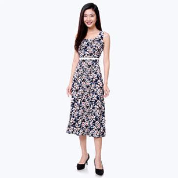 Đầm Maxi Hoa Dạo Phố Thu