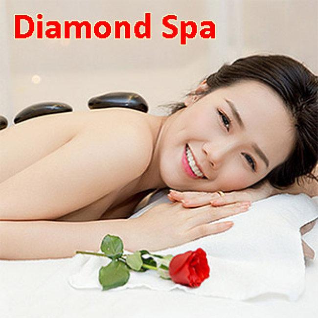 Massage Body + Massage Foot + Xông Hơi + Đắp Mặt Nạ Collagen (80 Phút) Tại Diamond Spa