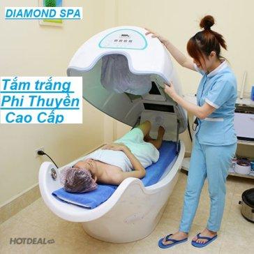 Diamond Spa - 120 Phút Tắm Trắng Nano Kết Hợp Phi Thuyền Cao Cấp Tặng Massage Mặt Thư Giãn