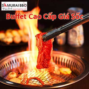 Buffet Trưa Samurai BBQ - Gần 60 Món BBQ Bò Mỹ, Lẩu, Hải Sản & Sushi - Tặng Buffet Kem