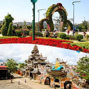 Tour Đà Lạt 3N3Đ Tham Gia Lễ Hội Festival Hoa 2017 – Vườn Hoa Khô – Langbiang – Linh Quy Pháp Ấn