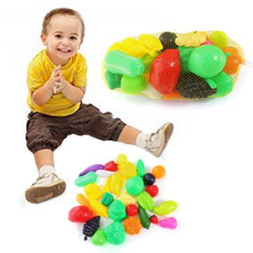 Túi Lưới Đồ Chơi Các Loại Trái Cây Rau Củ Quả Cho Bé / Túi Lớn - Hoàng Thu Toys