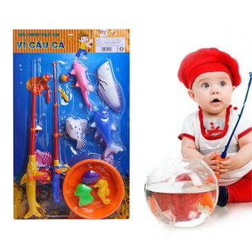 Vỉ Câu Cá 2 Cần Có Thau Cho Bé HT7649 Hoàng Thu Toys