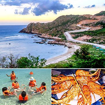 Tour Bình Ba 2N2Đ Khám Phá Đảo Tôm Hùm – Bao Gồm Tiệc Hải Sản - Đi Xe Giường Nằm