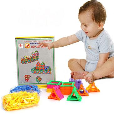 Đồ Chơi Bộ Xếp Hình Cho Bé HT7672 - Hoàng Thu Toys