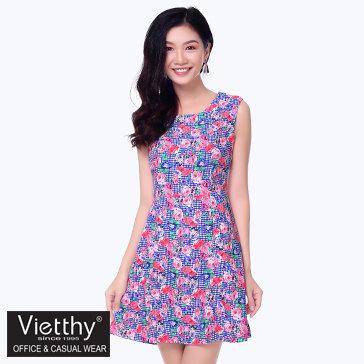 Đầm Xòe Họa Tiết Hoa- TH Việt Thy