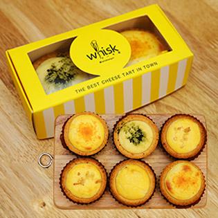 Set 6 Bánh Cheese Tart Thần Thánh Nhiều Hương Vị Tại Whisk - SC Vivo City & Zone 87