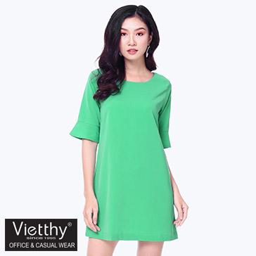 Đầm Suông Tay Loe Fashion - TH Việt Thy