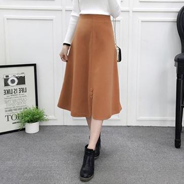 Chân Váy Phối Nút Xẻ Lai Fashion