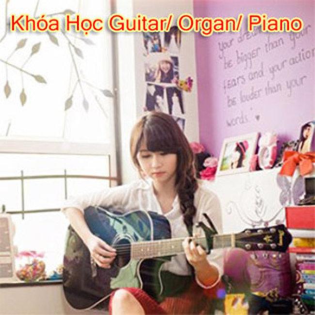 Trọn Gói 03 Tháng Khóa Học Nhạc Cụ Guitar/ Ukulele/ Organ/ Piano Tại Trung Tâm Âm Nhạc Giai Điệu Xanh