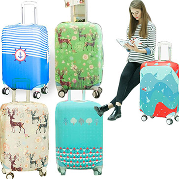 Túi Bọc Vali Thun Hàn Quốc Co Giãn 4 Chiều Giặt Được (Size 27-30)