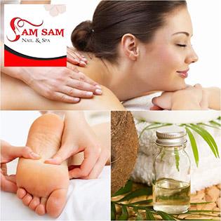 Massage Body + Đi Đá Nóng + Ấn Huyệt Thư Giãn + Xông Hơi Thải Độc Chỉ Có Tại Sam Sam Spa