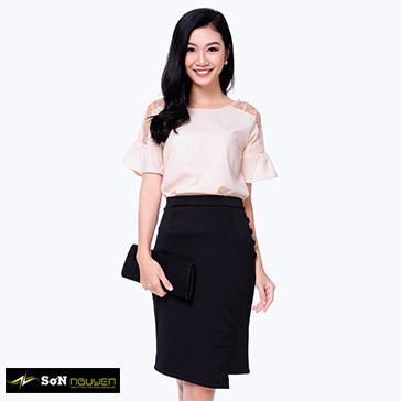 Áo Kiểu Vai Phối Ren 05603-TH Sơn Nguyễn