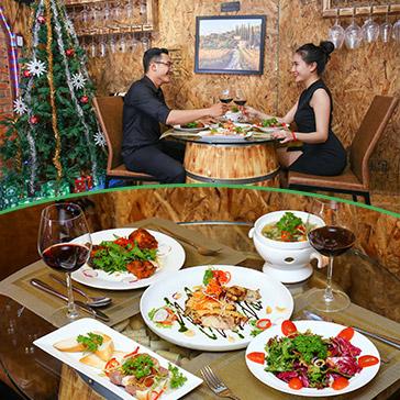 Set Menu Giáng Sinh Lãng Mạn Đẳng Cấp 5* Dành Cho 2 Người Tại Hầm Rượu The Aumy Wine Cellar