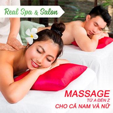 120 Phút Trọn Gói Xông Hơi, Massage Body, Foot, Chăm Sóc Da Mặt - Real Spa