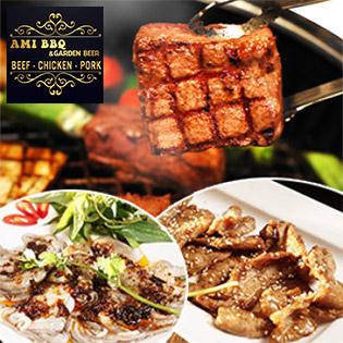 AMI BBQ - Set Nướng 5 Món Bò Mỹ Thượng Hạng Giá Shock Dành Cho 2 Người - Áp Dụng Cả Lễ Tết