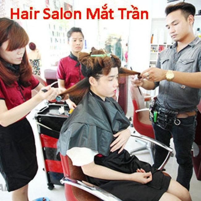 Hair Salon Mắt Trần - Trọn Gói Làm Tóc + Phục Hồi Tóc Cao Cấp - Tặng Hấp Dầu