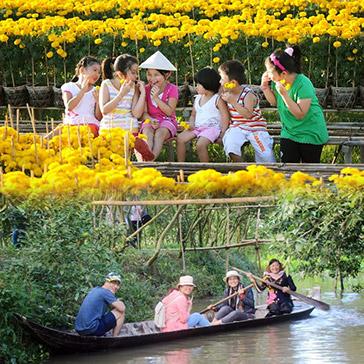 Tour Du Xuân Đồng Tháp 1 Ngày – Làng Hoa Kiểng Sa Đéc – Vườn Quýt Hồng Lai Vung