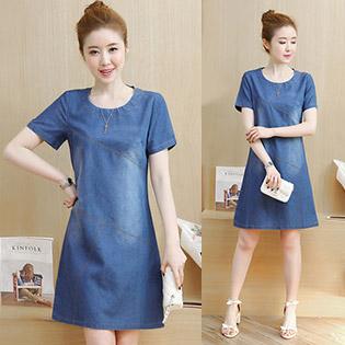 Đầm Suông Jean Công Sở Fashion