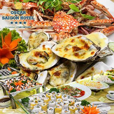 Buffet Tối T6, 7 & CN Hải Sản, Nướng & Lẩu – Oscar Hotel 4* – Phố Đi Bộ Đẹp Nhất VN