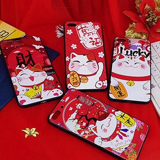 Ốp Dẻo Mèo Thần Tài May Mắn Cho IPhone Maneki Neko