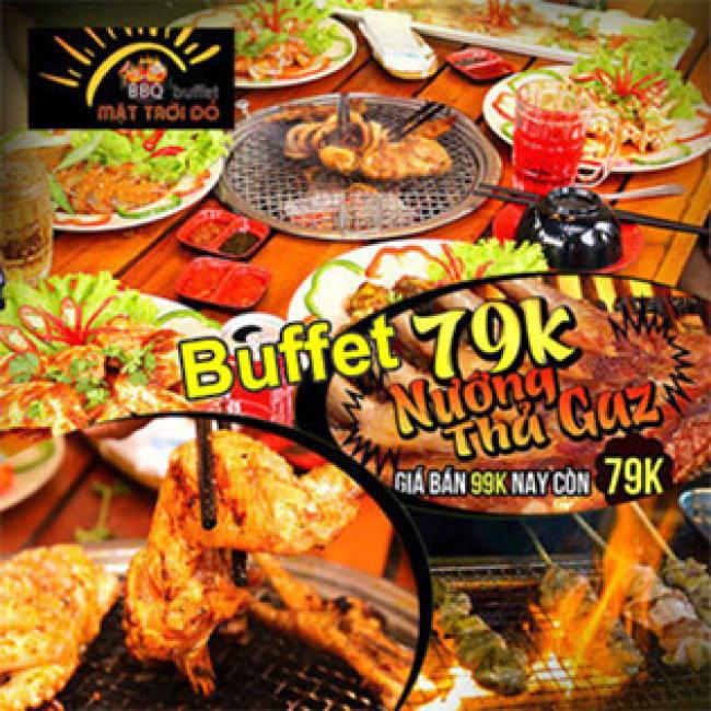 Buffet Tối BBQ Hải Sản Gần 40 Món Tại Buffet BBQ Mặt Trời Đỏ