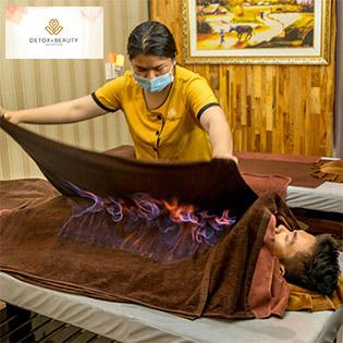 Massage Hỏa Trị Liệu Lưu Thông Khí Huyết, Đả Thông Kinh Mạch – Detox & Beauty Center