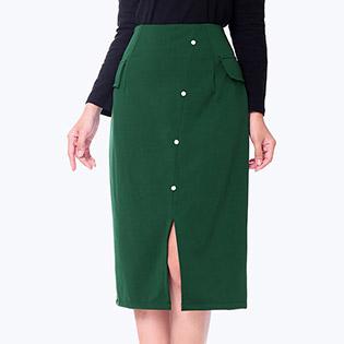 Chân Váy Midi Phối Túi Fashion