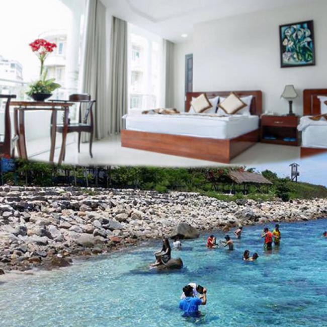 Gói Nghỉ Dưỡng Nha Trang: 3N2Đ Tại Khách Sạn Ven Biển 2* + Tour Khám Phá 4 Đảo 1 Ngày - Cho 1 Người