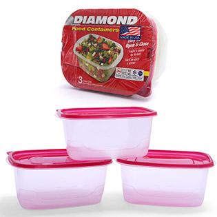 Bộ 3 Hộp Dựng Thực Phẩm Deep Dish Diamond (1890ML/ Hộp)