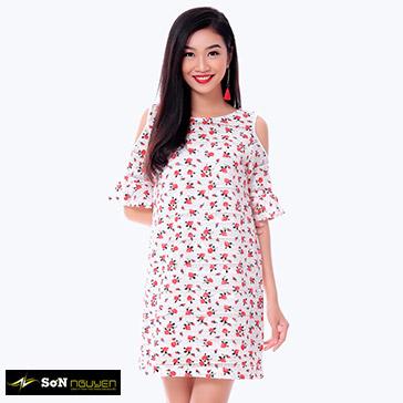 Đầm Hoa Nhí Cut Vai – 07603 – TH Sơn Nguyễn