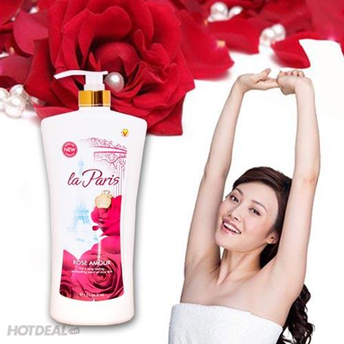 Combo 2 Chai sữa Tắm Tinh Dầu Hoa Hồng La Paris Cao Cấp (Hàng VNCLC)