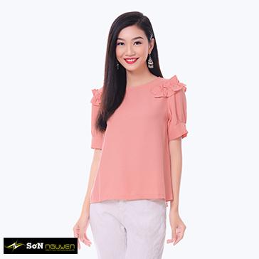 Áo Kiểu Nhúng Vai 45704 - TH Sơn Nguyễn
