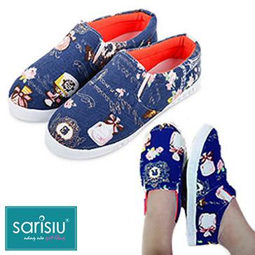 Giày Slip On Flower Cá Tính Sarisiu