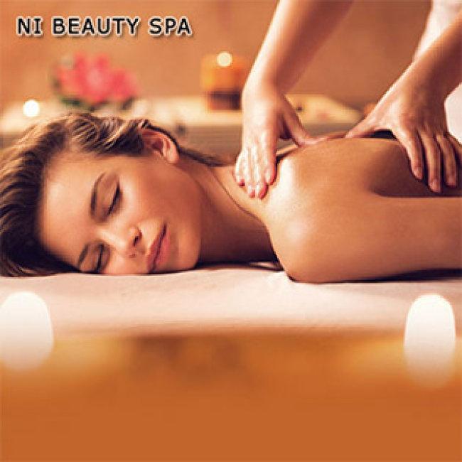 Massage Body Đá Muối Himalaya/ Dầu Dừa + Thanh Tẩy Da Mặt Mỹ Phẩm Pháp Tại Ni Beauty Spa