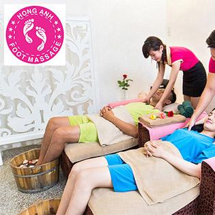 Gói Couple: Massage Body + Massage Foot + Ngâm Chân + Đắp Mặt Nạ Cho Cặp Đôi (02 Người) - Hồng Anh Foot Massage