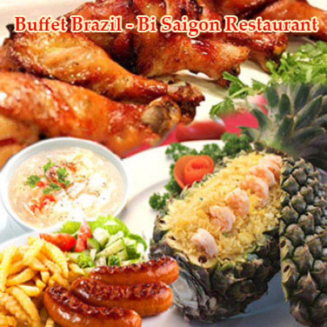 Nhà Hàng Bi Sài Gòn – Buffet Brazil Trưa/ Tối Trên 40 Món