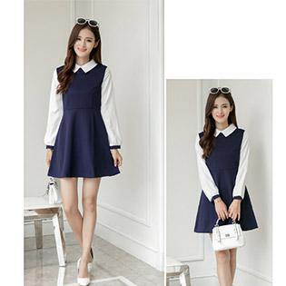 Đầm Nữ Slim Tay Dài Style Hàn Quốc