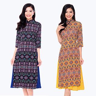 Set Áo Dài Cổ Tàu + Chân Váy