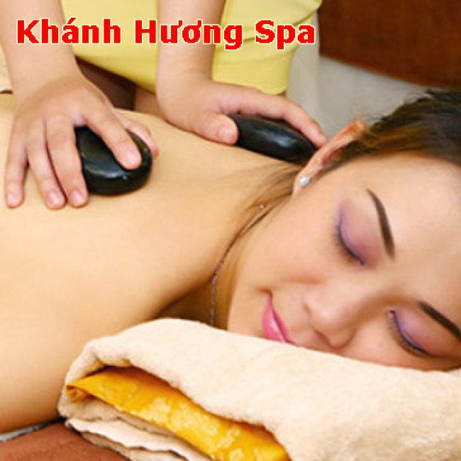 Miễn Tip - (90') Massage Body Đá Nóng + Chạy Vitamin C + Đắp Mặt Nạ - Khánh Hương Spa