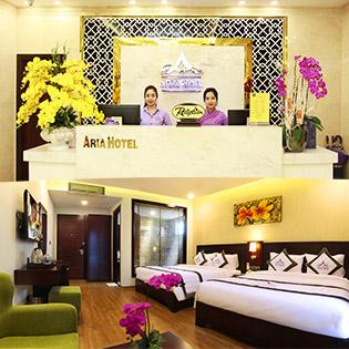 Aria Hotel 3* Đà Nẵng 2N1Đ – Miễn Phí Ăn Sáng – Gần Biển – Không Phụ Thu Cuối Tuần
