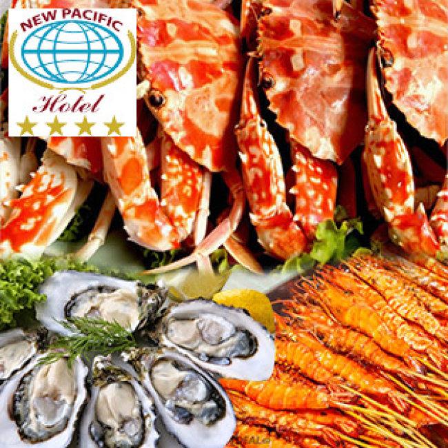 Buffet Tối T7, CN Trên 70 Món Hải Sản Cao Cấp Đặc Sản 3 Miền Tại New Pacific 4*