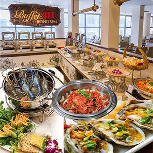 Áp Dụng Tết - Buffet Tối Gánh Bông Sen 4* - Hải Sản Cao Cấp Tại Phố Đi Bộ Nguyễn Huệ