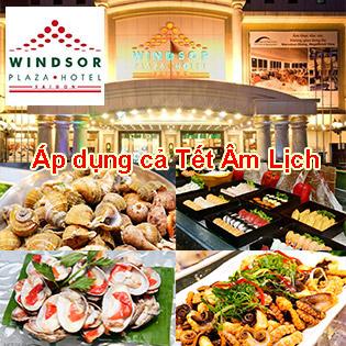 Windsor Hotel 5* - Buffet Trưa Thứ 2 Đến Thứ 6 Hải Sản Cao Cấp - Free Bia, Nước Ngọt